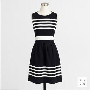 J Crew Striped Daybreak Dress W/Pockets